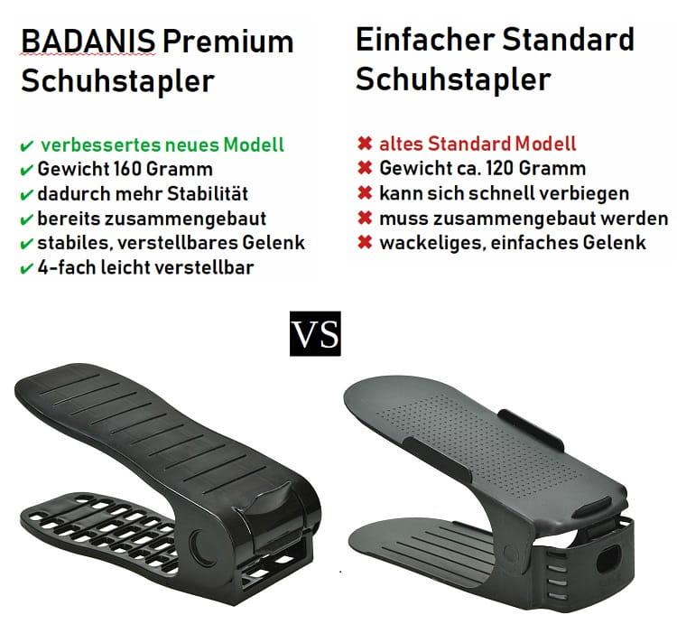 Badanis Schuhstapler Schuhroganizer verstellbar platzsparend